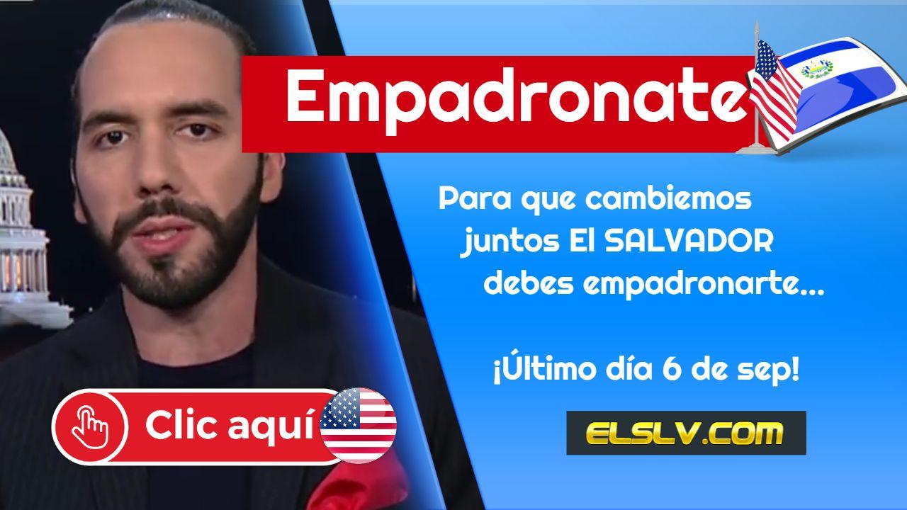 Empadronamiento Salvadoreños 2019
